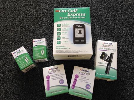 血糖値測定器エイコンのセット